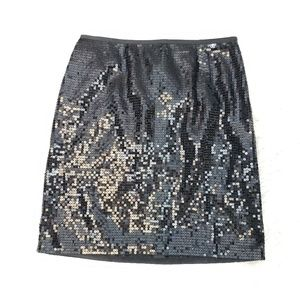 Ann Taylor | Black sequin skirt